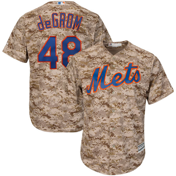official photos 358bc cafc2 Jacob deGrom New York Mets Majestic Cool Base Player Jersey ...