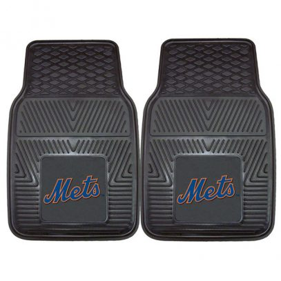 Mets 27%22 x 18%22 2-Pack Vinyl Car Mat Set
