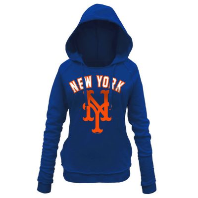 Mets 5th & Ocean by New Era Women's Hot Corner Pullover Hoodie