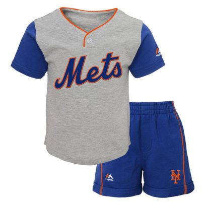 Mets Majestic Infant Batting Practice Short Set