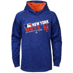 Mets Majestic Youth Authentic Collection Team Choice Streak Therma Base Hoodie