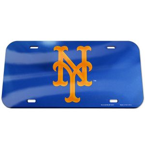 Mets WinCraft Logo Crystal Mirror License Plate