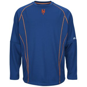 New York Mets Majestic On-Field Practice Pullover Sweatshirt
