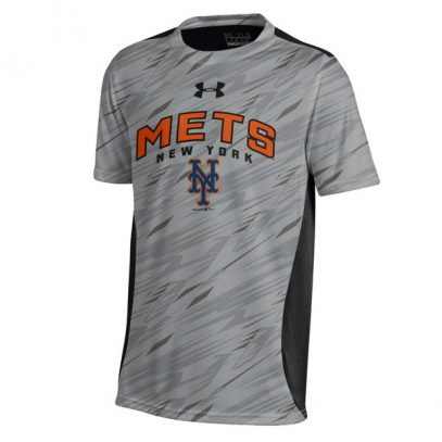 New York Mets Under Armour Youth Colorblock Novelty Top Performance T-Shirt