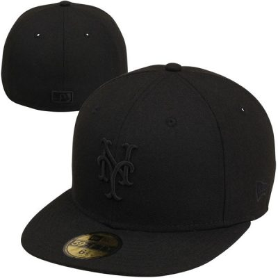 Men's New York Mets New Era Black Tonal 59FIFTY Fitted Hat