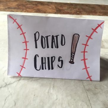 BASEBALL PARTY LABELS