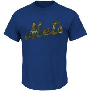 New York Mets Majestic USMC Woodland Camo Wordmark T-Shirt – Royal