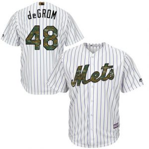 Jacob deGrom New York Mets Majestic 2016 Fashion Memorial Day Cool Base Jersey – White