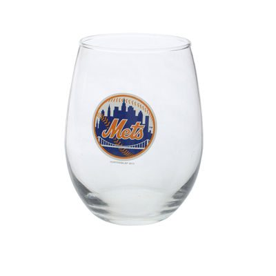 New York Mets 16oz. Stemless Wine Glass
