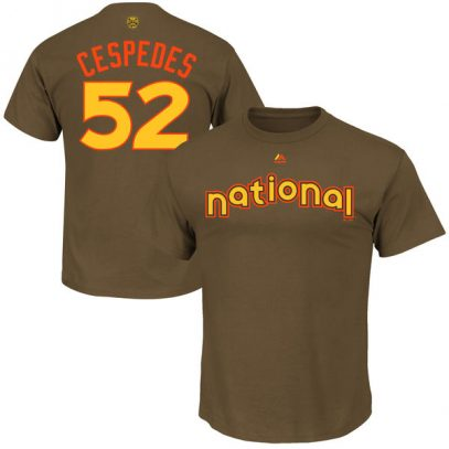 Yoenis Cespedes New York Mets Majestic 2016 MLB All-Star Game Name & Number T-Shirt