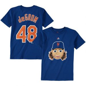 Jacob deGrom New York Mets Majestic Name & Number Emoji T-Shirt – Royal