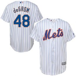 Jacob deGrom New York Mets Majestic Youth Official Cool Base Player Jersey – White