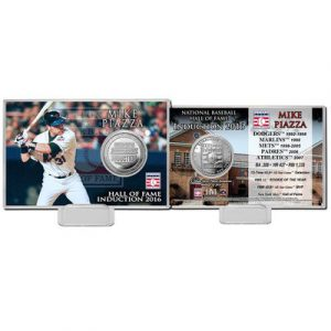 New York Mets Mike Piazza Highland Mint 4″ x 6″ 2016 Hall of Fame Induction Commemorative Coin Card