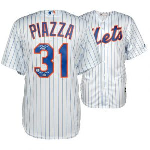 Mike Piazza New York Mets Fanatics Authentic Autographed White Pinstripe Replica Jersey with HOF 16 Inscription