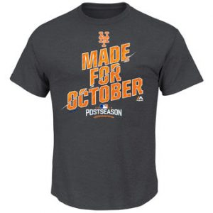 Men's New York Mets Majestic Charcoal 2016 Postseason Wild Card Clinch Locker Room T-Shirt