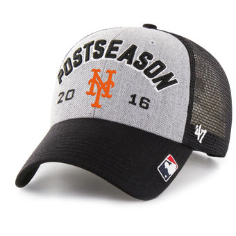 Men's New York Mets '47 Gray 2016 Postseason Tamarac Locker Room Adjustable Hat