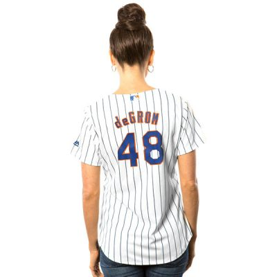 Jacob deGrom New York Mets Majestic Women's Cool Base Player Jersey