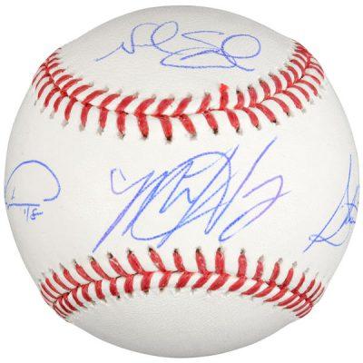 Matt Harvey, Steven Matz, Noah Syndergaard, Jacob deGrom New York Mets Fanatics Authentic Autographed Baseball