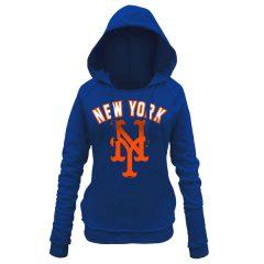 Mets 5th & Ocean by New Era Women's Hot Corner Pullover Hoodie