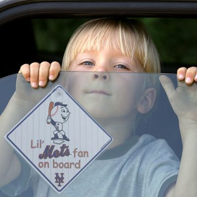 Mets Lil' Fan On Board Car Sign