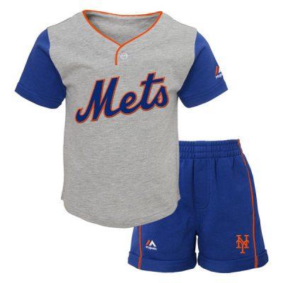 Mets Majestic Infant Batting Practice Short Set