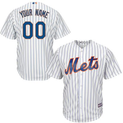 Mets Majestic Youth Custom Cool Base Jersey