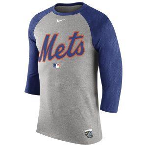 Mets Nike Authentic Collection Legend Three-Quarter Sleeve Raglan T-Shirt
