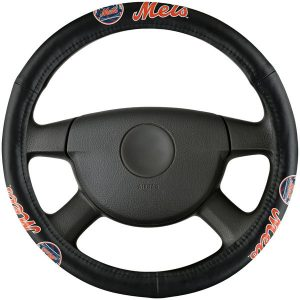 Mets Leather Steering Wheel Cover