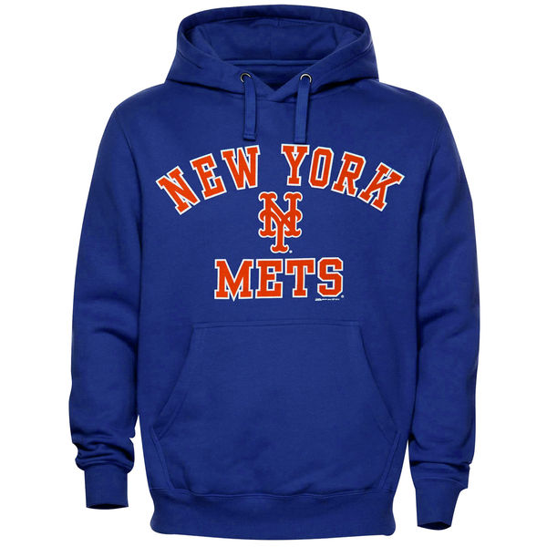 newest f5e20 63c68 Mets Stitches Fastball Fleece Pullover Hoodie