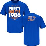 I Wanna Party Like It's 1986. Royal Blue T Shirt (Sm-5X)