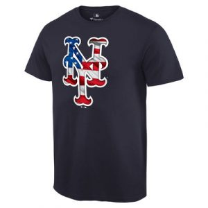 New York Mets Banner Wave T-Shirt – Navy