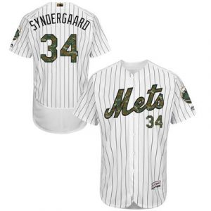 Noah Syndergaard New York Mets Majestic Fashion 2016 Memorial Day Flex Base Jersey – White