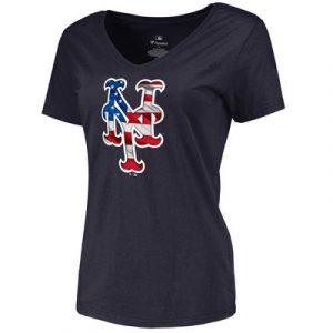 New York Mets Women's Banner Wave Slim Fit T-Shirt – Navy