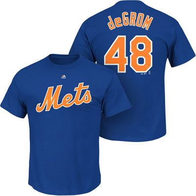 Jacob deGrom New York Mets Majestic Youth Player Name & Number T-Shirt – Royal