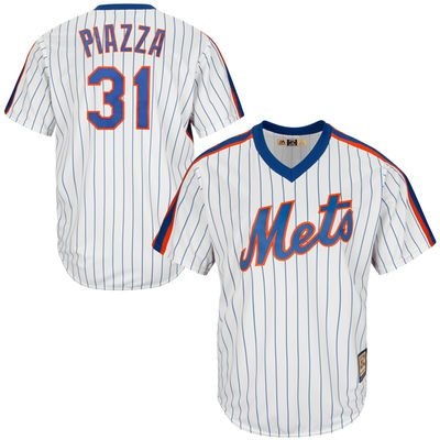 Men's New York Mets Mike Piazza Majestic White Home Cool Base Cooperstown Collection Player Jersey