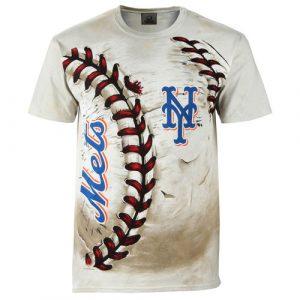 Men's New York Mets Cream Hardball Tie-Dye T- Shirt
